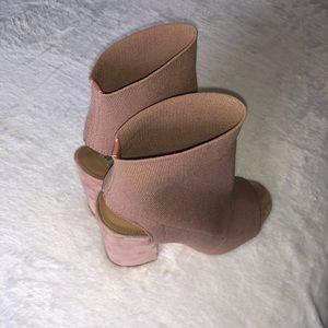 Steve Madden Shoes - Nude Steve Madden Block Heels Size 8